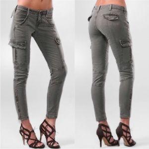 J Brand Houlihan Vintage Olive Skinny Cargo Pants